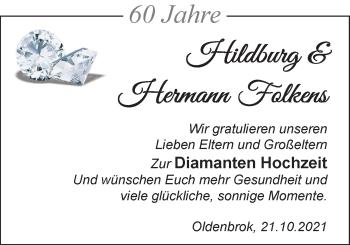 Hochzeitsanzeige von Hildburg Folkens von NWZ