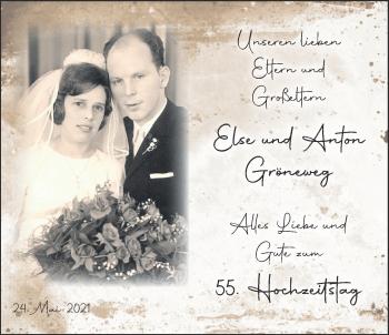 Hochzeitsanzeige von Else Gröneweg von NWZ