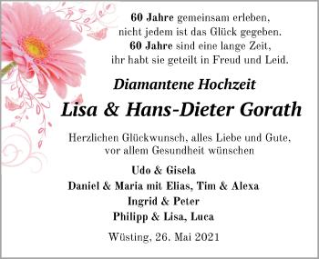 Hochzeitsanzeige von Lisa Gorath von NWZ