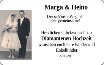 Hochzeitsanzeige von Marga Oltmanns von NWZ