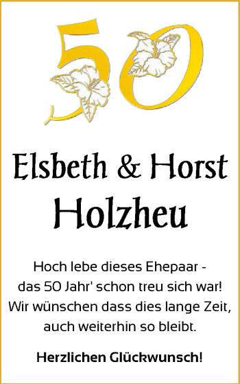 Hochzeitsanzeige von Elsbeth Holzheu von NWZ