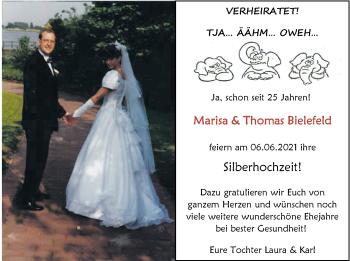 Hochzeitsanzeige von Marisa Bielefeld von NWZ