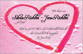 Hochzeitsanzeige von Silvia Richter von NWZ