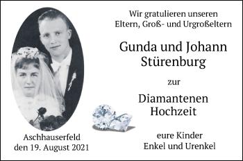 Hochzeitsanzeige von Gunda Stürenburg von NWZ
