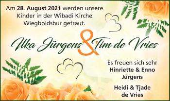 Hochzeitsanzeige von Ilka  Jürgens von EZ