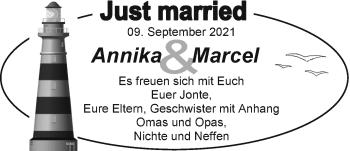 Hochzeitsanzeige von Annika  von EZ
