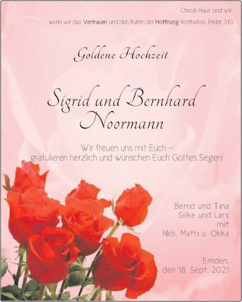 Hochzeitsanzeige von Bernhard Noormann von EZ