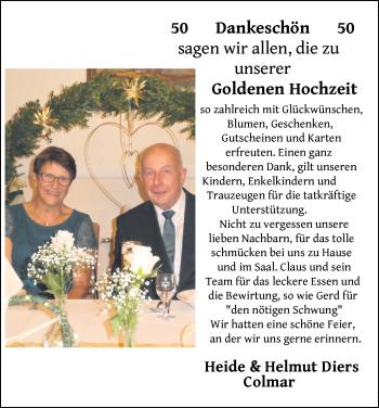 Hochzeitsanzeige von Heide Diers von NWZ