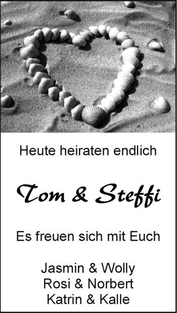 Hochzeitsanzeige von Tom  von EZ