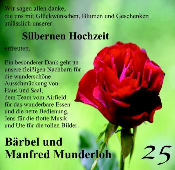 Hochzeitsanzeige von Bärbel Munderloh von Nordwest-Zeitung