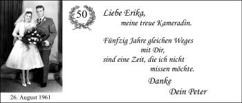 Hochzeitsanzeige von Erika Hahn von Nordwest-Zeitung