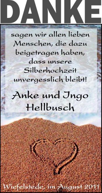Hochzeitsanzeige von Anke Hellbusch von Nordwest-Zeitung