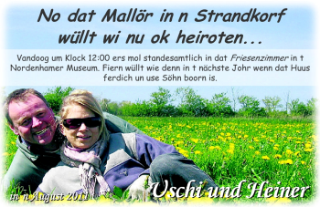 Hochzeitsanzeige von Ursula Brunner von Nordwest-Zeitung