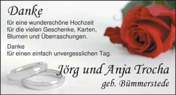 Hochzeitsanzeige von Bümmerstede Anja von Nordwest-Zeitung