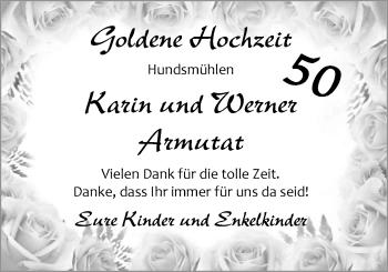 Hochzeitsanzeige von Karin Armutat von Nordwest-Zeitung