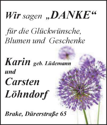 Hochzeitsanzeige von Karin Timmermann von Nordwest-Zeitung
