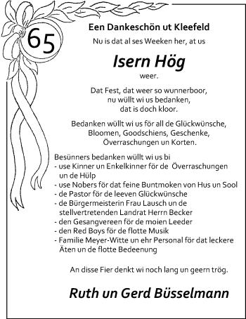 Hochzeitsanzeige von Ruth Büsselmann von Nordwest-Zeitung