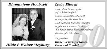 Hochzeitsanzeige von Hilde Meyburg von Nordwest-Zeitung