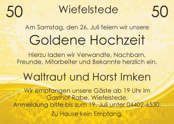 Hochzeitsanzeige von Waltraut Imken von Nordwest-Zeitung