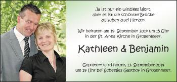Zur Hochzeitsseite von Kathleen