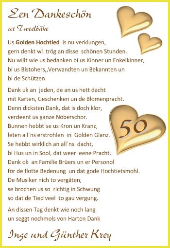 Hochzeitsanzeige von Inge Krey von Nordwest-Zeitung
