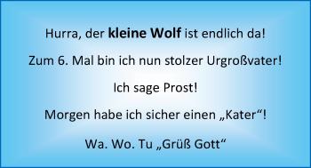 Hochzeitsanzeige von kleine Wolf Kleine Wolf von Nordwest-Zeitung