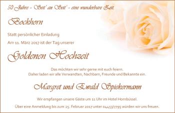 Hochzeitsanzeige von Margret Spiekermann von Nordwest-Zeitung