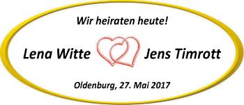 Hochzeitsanzeige von Lena Witte von Nordwest-Zeitung