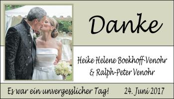 Hochzeitsanzeige von Heike Helene Boekhoff-Venohr von Nordwest-Zeitung