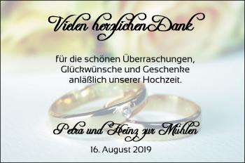 Hochzeitsanzeige von Petra zur Mühlen von Nordwest-Zeitung